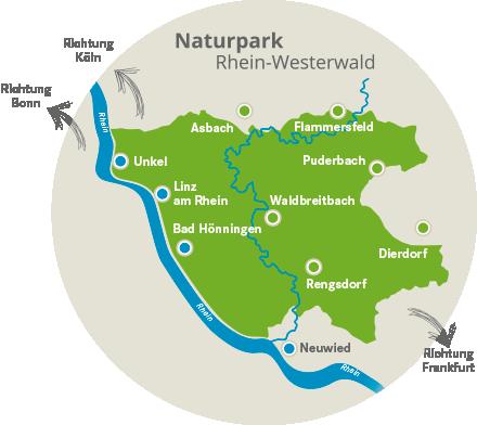 Westerwald Karte.Naturpark Karte